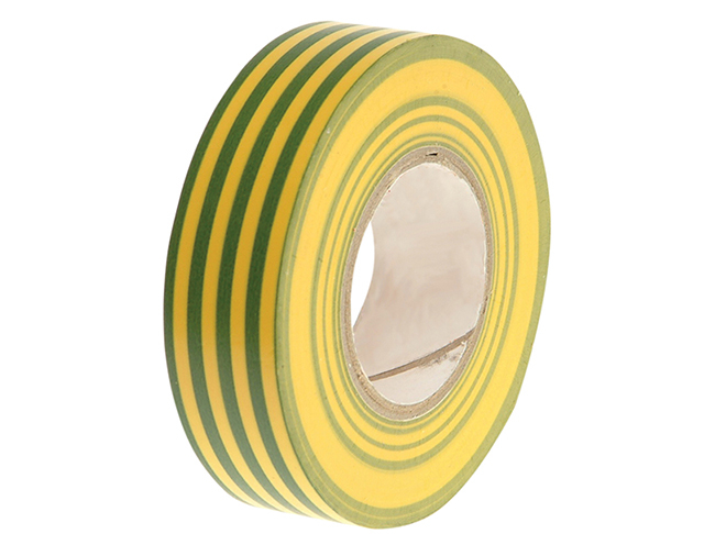 Faithfull PVC Electricial Tape Green / Yellow 19mm x 20m FAITAPEPVCGY