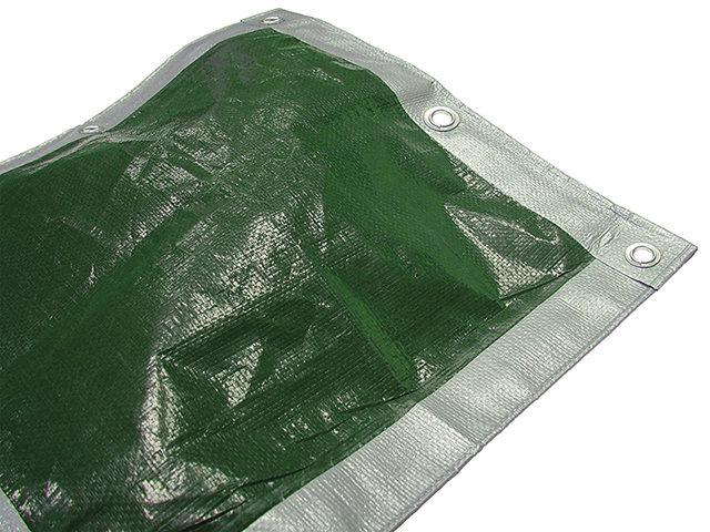 Faithfull Tarpaulin Green/ Silver Heavy-Duty 5.4 x 5.4m (18 x 18ft) FAITARP1818H