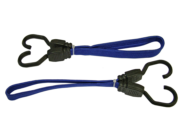 Faithfull Flat Bungee Flat Cord 46cm (18in) Blue 2 Piece FAITDBUNG18