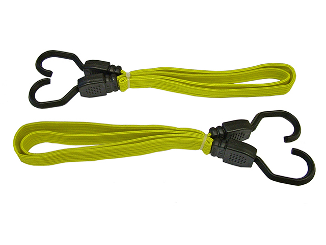 Faithfull Flat Bungee Cord 90cm (36in) Yellow 2 Piece FAITDBUNG36