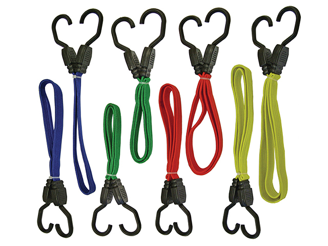 Faithfull Flat Bungee Cord Set 8 Piece FAITDBUNG8