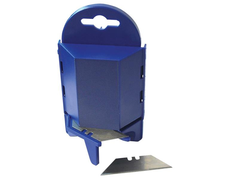 Faithfull Heavy-Duty Trimming Knife Blades (Box 100) in safe storage dispenser FAITKB100