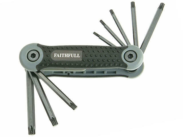 Faithfull Folding Star Key Set of 8 (TX9-TX40) FAITKSF8