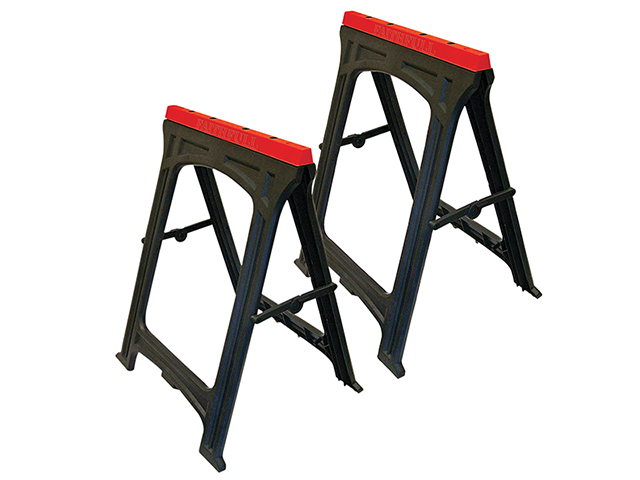 Faithfull Plastic Trestles Height 82cm x Length 57cm (Twin Pack) FAITRESTLESP