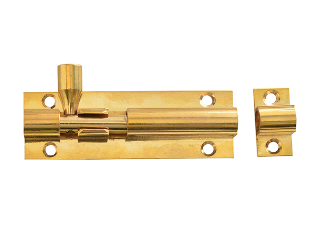 Forge Door Bolt - Brass 75mm (3in) FGEDBLTBR3