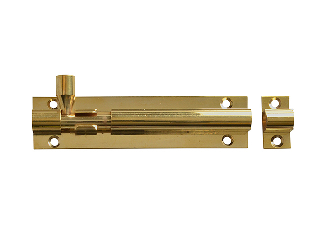 Forge Door Bolt - Brass 100mm (4in) FGEDBLTBR4