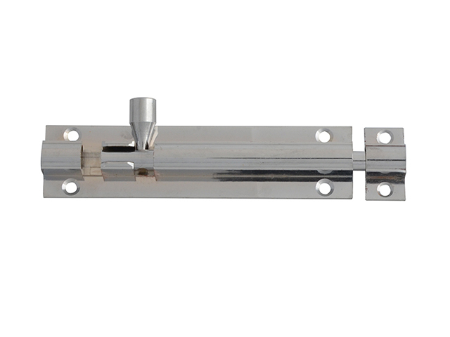 FORGE DOOR BOLT - CHROME 100MM (4IN)