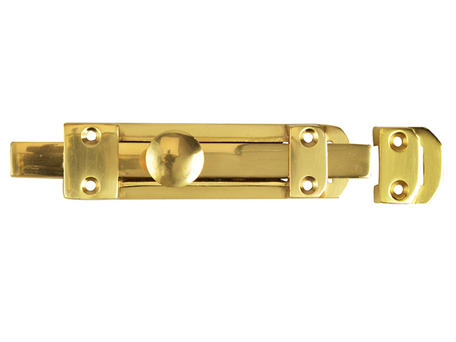 Forge Heavy-Duty Door Bolt - Brass 150mm (6in) FGEDBLTHVBR6
