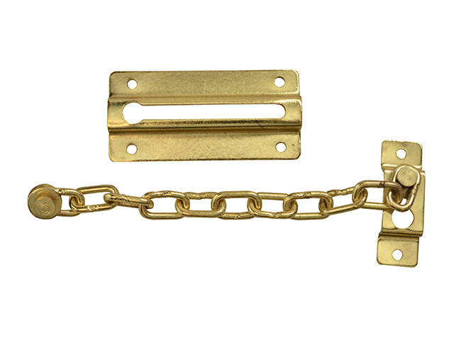 Forge Door Chain - Brass Finish Plated 80mm FGEDCHNBR80