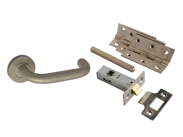 Forge Return To Door Handle Pack Stainless Steel FGEDPCKSSRTD