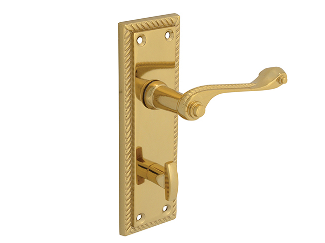 Forge Backplate Handle Bathroom - Georgian Brass 152mm FGEHBATGEOBR