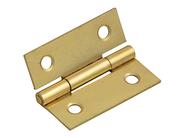 Forge Butt Hinge Brass Finish 40mm (1.5in) Pack of 2 FGEHNGBTBP40