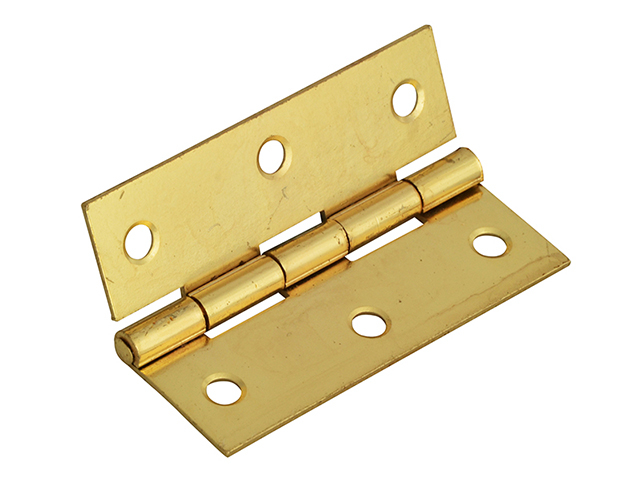 Forge Butt Hinge Brass Finish 65mm (2.5in) Pack of 2 FGEHNGBTBP65
