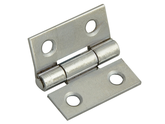 Forge Butt Hinge Polished Chrome Finish 25mm (1in) Pack of 2 FGEHNGBTPC25