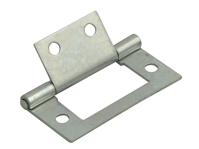 Forge Flush Hinge Zinc Plated 40mm (1.5in) Pack of 2 FGEHNGFLZP40