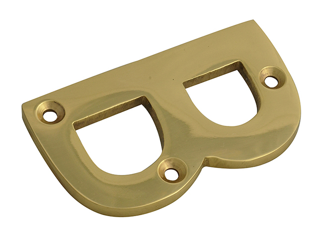 Forge Letter B - Brass Finish 75mm (3in) FGENUMBBR75
