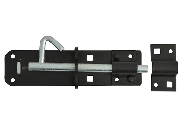 Padlock Bolt Black Powder Coated 150mm (6in)