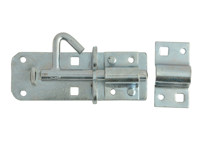 Forge Padlock Bolt Zinc Plated 100mm (4in) FGEPBLTGAL4