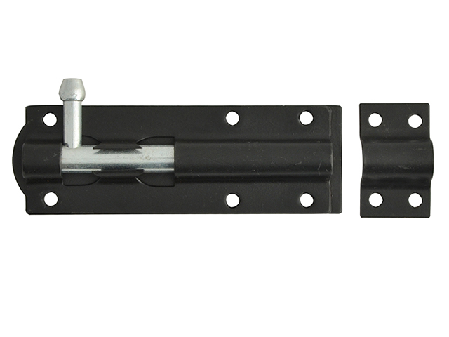 Forge Tower Bolts Black Powder Coated 100mm (4in) FGETOWBBL4