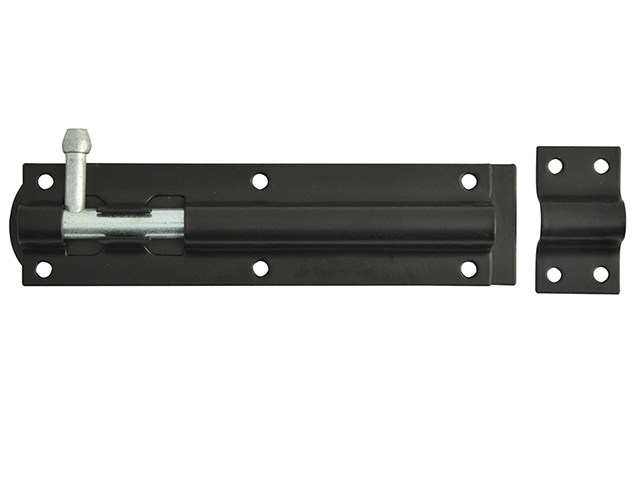Tower Bolt Black Powder Coated 150mm (6in)