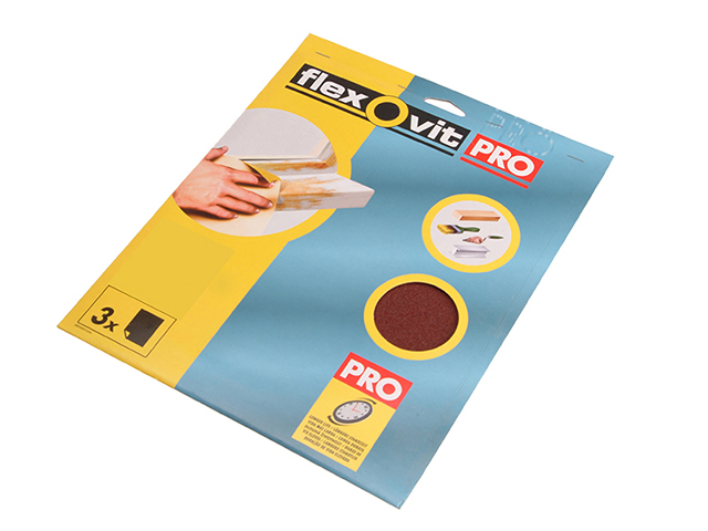 Flexovit Aluminium Oxide Sanding Sheets 230 x 280mm Medium 80G  (3) FLV26312