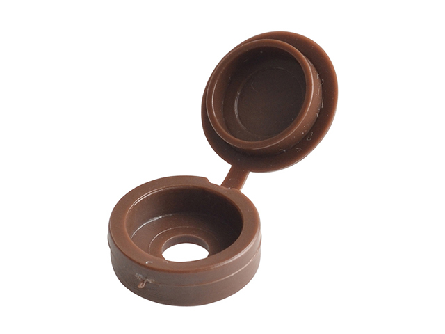 ForgeFix Hinged Cover Cap Dark Brown No. 6-8 Bag 100 FORHCC1M
