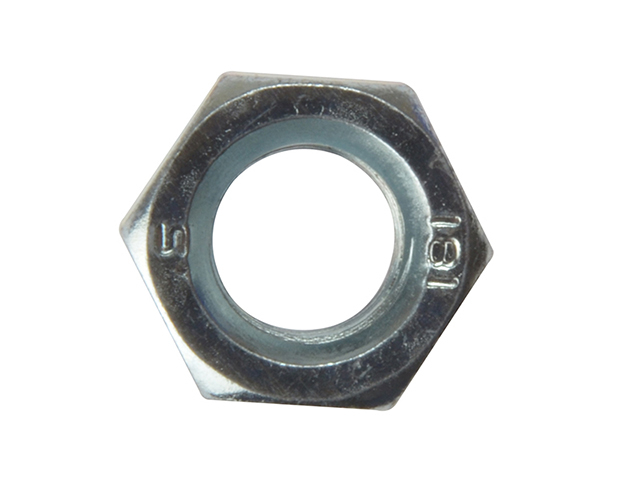 ForgeFix Hexagon Nut ZP M10 Bag 50 FORNUT10M