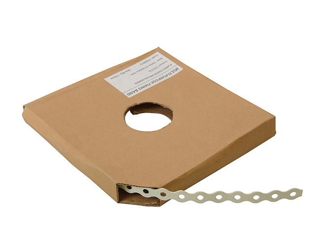 ForgeFix White Plastic Coated Pre-Galvanised Band 12mm x 0.8 x 10m Box 1 FORPCBW12