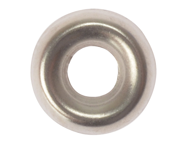 ForgeFix Screw Cup Washers Solid Brass Nickel Plated No.6 Bag 200 FORSCW6NM