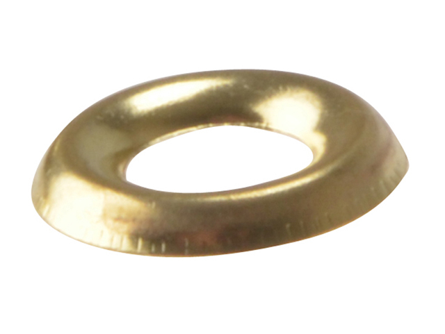 ForgeFix Screw Cup Washers Solid Brass Polished No.8 Bag 200 FORSCW8BM