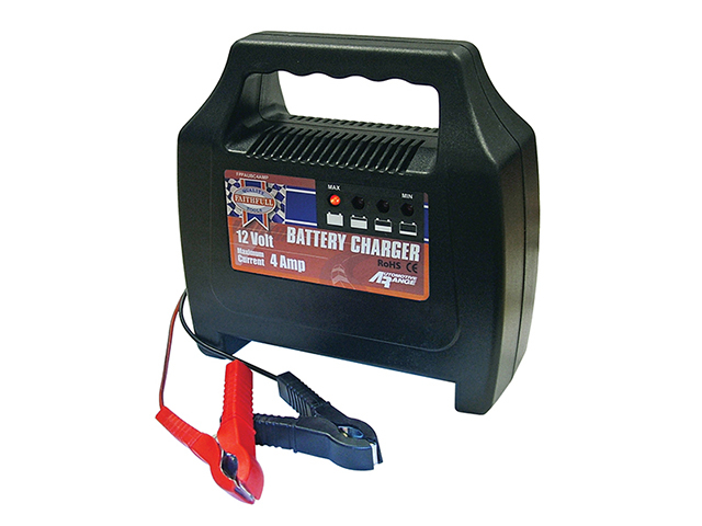 Faithfull Power Plus Vehicle Battery Charger 20-65ah 4 amp FPPAUBC4AMP