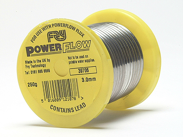 Frys Metals Powerflow Solder Wire 3mm - 250g Reel FRYPF250