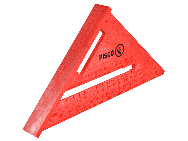 Fisco X55E Red Plastic Rafter Angle Square 175mm FSCX55E
