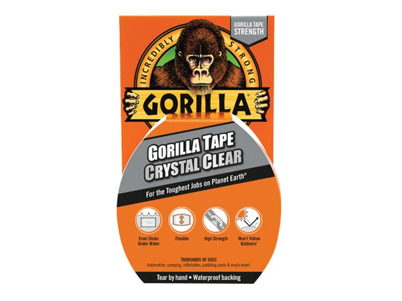 Gorilla Glue Gorilla Tape Crystal Clear 48mm x 16.4m GRGCCTAPE16