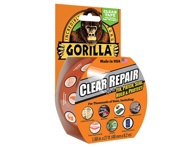 Gorilla Glue Gorilla Tape Crystal Clear 48mm x 8.2m GRGCLTAPE48