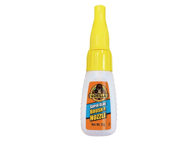 Gorilla Glue Gorilla Super Glue Brush & Nozzle 12g GRGGSGB12