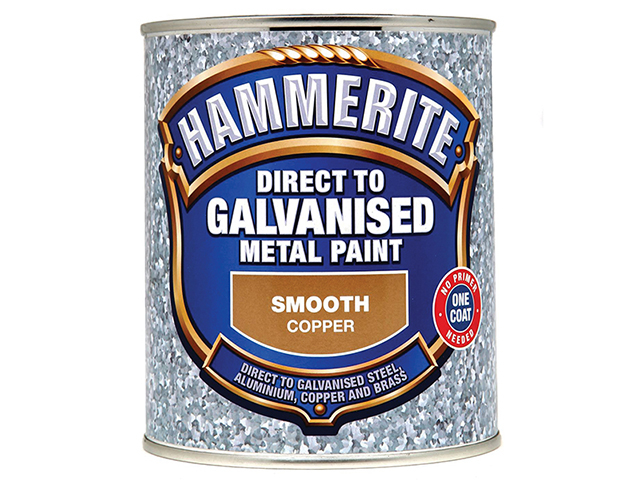 Hammerite Direct to Galvanised Metal Paint Copper 750ml HMMDGCO750