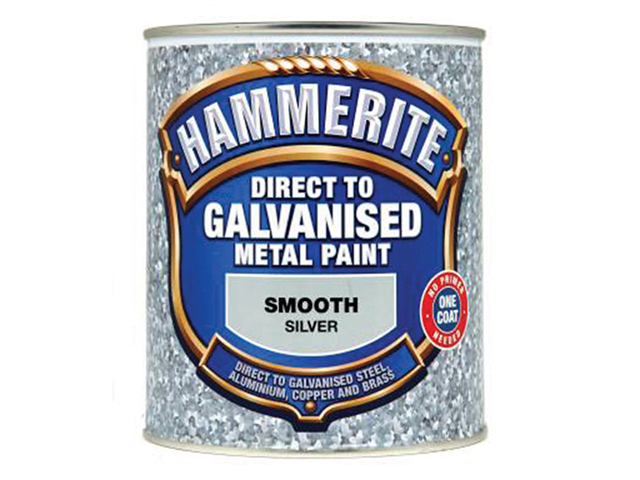 Hammerite Direct to Galvanised Metal Paint Silver 750ml HMMDGSI750