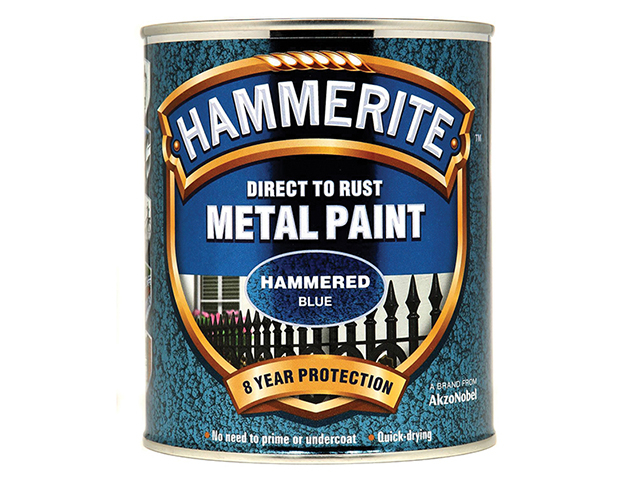 Hammerite Direct to Rust Hammered Finish Metal Paint Blue 750ml HMMHFB750
