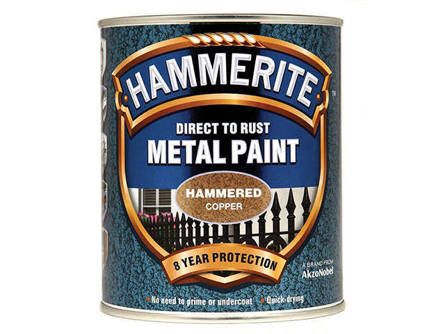 Hammerite Direct to Rust Hammered Finish Metal Paint Copper 750ml HMMHFCO750