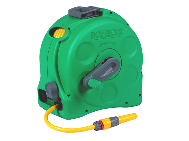 Hozelock 2415 25m 2-in-1 Compact Hose Reel + 25m of Starter Hose HOZ2415