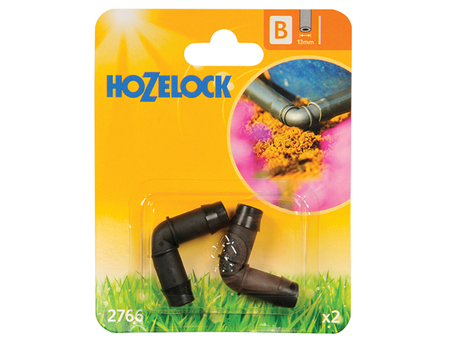 Hozelock Elbow Connector 90 Degree 13mm (2 Pack) HOZ2766