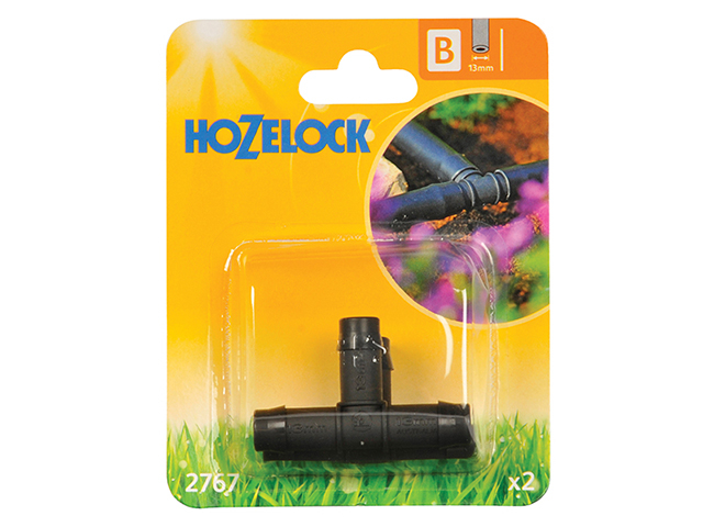 Hozelock T Piece 13mm (2 Pack) HOZ2767