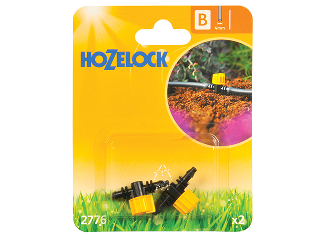 Hozelock Flow Control Valve 4mm (2 Pack) HOZ2776