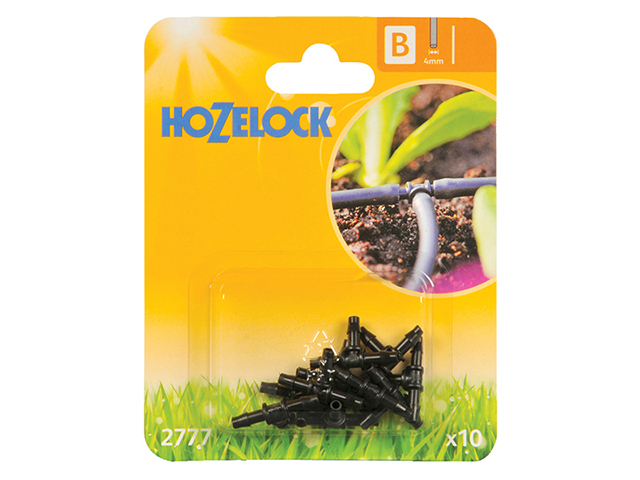 Hozelock T Piece 4mm (10 Pack) HOZ2777