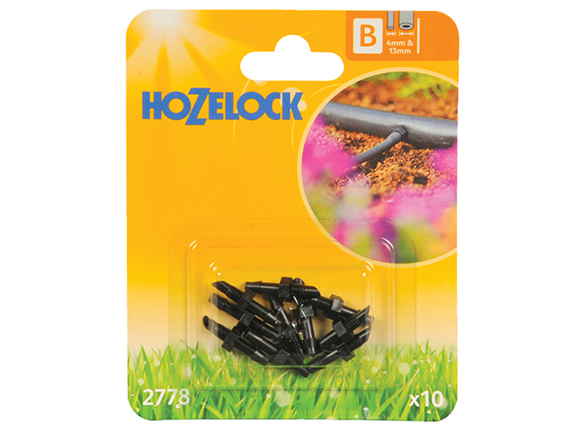 Hozelock Straight Connector 4mm (10 Pack) HOZ2778
