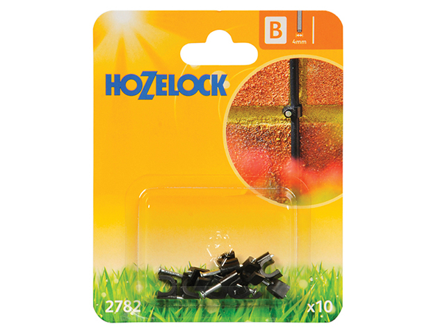 Hozelock Wall Clip 4mm (10 Pack) HOZ2782