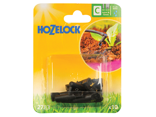 HOZELOCK END LINE DRIPPER 4MM/13MM (10PK)