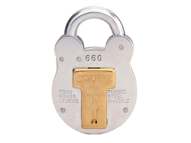 Henry Squire 660KA Old English Padlock with Steel Case 64mm Keyed HSQ660KA
