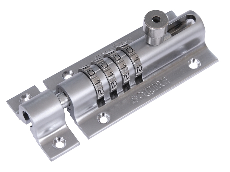Henry Squire Combi 2 Re-Codeable Locking Bolt 120mm - Chrome HSQCOMBI2CH